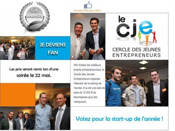 CJE Awards 2012 : 9.500€ de dotation pour 4 Start-up innovantes